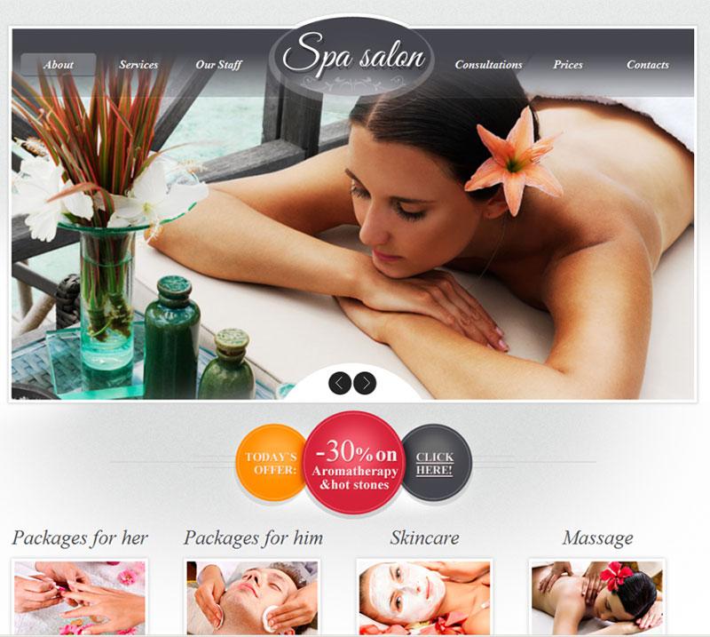 website lĩnh vực spa