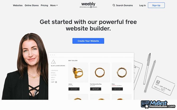 weebly làm trang web miễn phí