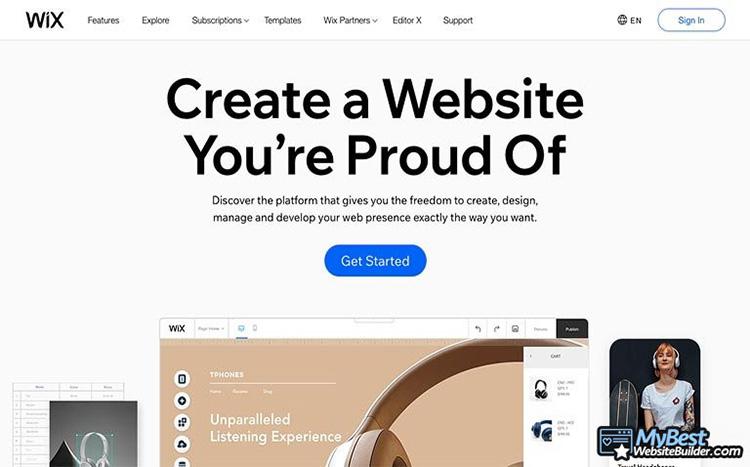 wix tạo web miễn phí